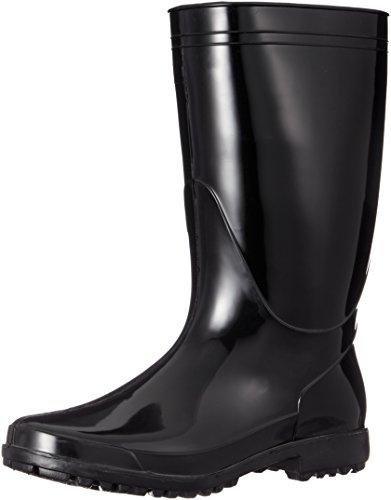 [ジーデージャパン] レインブーツ PVC製 軽半長靴 RB-651 作業靴 通勤 通学 園芸 ブラック 24.5cm