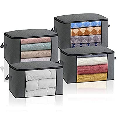 Large Storage Containers Bags[4pack] 3 Layers M...