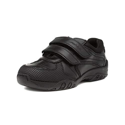 Hush Puppies Jezza Boys Black Leather Shoe