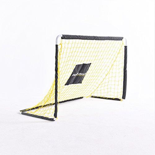 PodiuMax Stählernes Fußballtor für Kinder | Faltbar mit Stabilem Netz | 122cm * 72cm | Perfekt für Hockey / Indoor / Outdoor / Garten