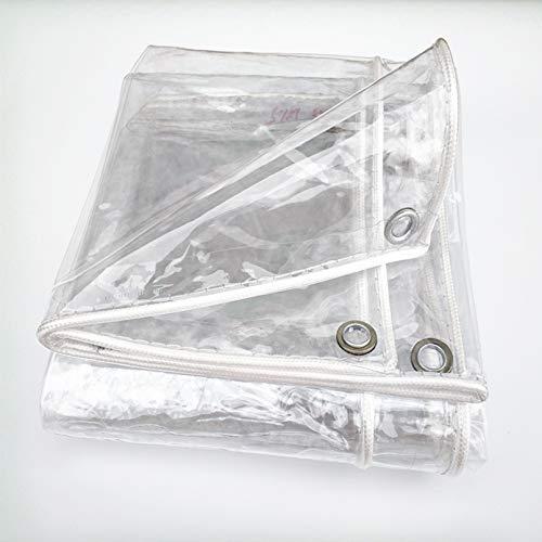 Lona Transparente con Ojales,0.3mm Carpa PVC Lonas Impermeable,Toldo de Patio Exterior a Prueba de Polvo al Aire Libre,para Jardinería Plantas,Acampar Cubiertas de Suelo (2.4x4m/8x13ft)