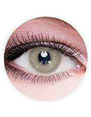 Dahab Caramel Contact Lenses, Unisex Dahab Cosmetic Contact Lenses, 9 Months Disposable- Natural and Beauty Collection, Caramel, Gray Color