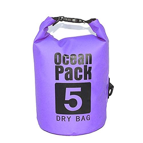 duoying Dry Bag Mochila impermeable, ligera IP66, 100% impermeable, con correa larga ajustable para kayak, pesca, rafting, natación,