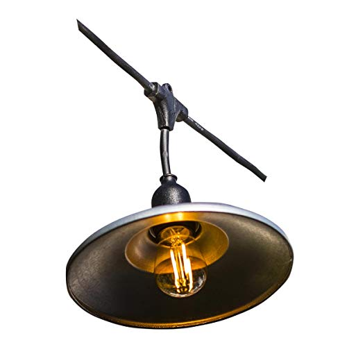 LUMISKY BOWL GALVA LIGHT - Ghirlanda luminosa, colore: Nero