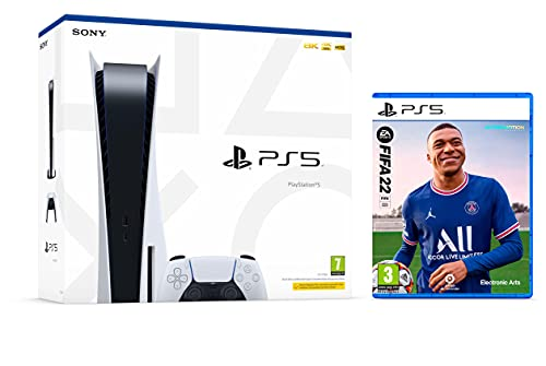 PS5 Konsole Sony PlayStation 5 - Standard Edition, 825 GB, 4K, HDR (Mit Laufwerk) + FIFA 22 [PS5]