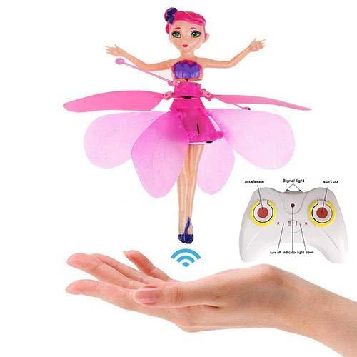 Fliegende Fee Puppe Mit Infraroterkennung Schwimmendem Licht Ferngesteuertes Spielzeug Für Kinder (mit Fernbedienung)