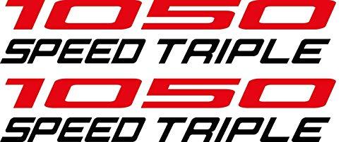 SUPERSTICKI 2X Triumph 1050 Speed Triple Motorrad Aufkleber ca 20cm Bike Auto Racing Tuning aus Hochleistungsfolie Aufkleber Autoaufkleber Tuningaufkleber Hochleistungsfolie für alle glatt