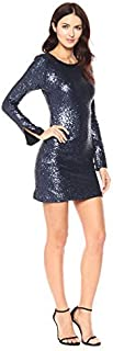 Cynthia Rowley Women's Sequin Bell Sleeve Dress