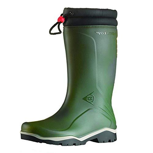 Dunlop Blizzard gefütterte Herren Gummistiefel, Grün (Green/Grey/Black ), 43 EU