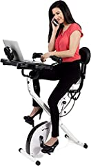 FULL BODY EXERCISE: FitDesk Bike Desk 3.0 is equipped with resistance bands just underneath its seat. You can perform a light upper body workout while pedaling the bike desk. ADJUSTABLE ARM SUPPORT: The FitDesk Table Top features adjustable forearm s...