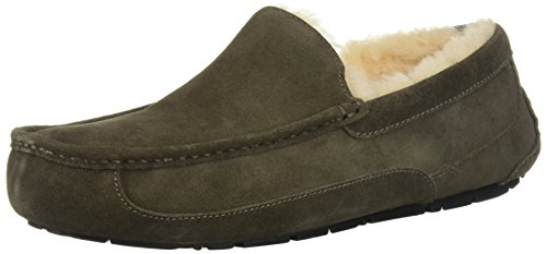 UGG Men's Ascot Slipper, Grey Charcoal, 09 M US