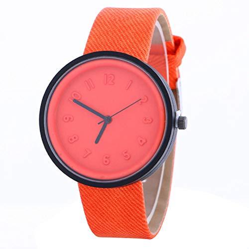 SANDA Relojes De Pulsera,Reloj de Pulsera Reloj de Color Caramelo Reloj de Moda-Naranja