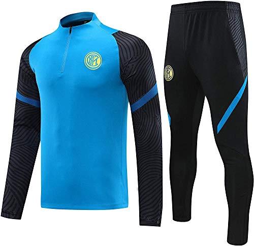 CLQ Camiseta Milan (Home & Away) Camiseta de fútbol para niños y Adultos Uniforme de fútbol Camisetas de fútbol con Material Transpirable y Resistente al Sudor Regalo de fútbol para niños-L_2