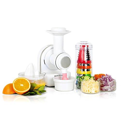 Duronic 3-in-1 Food Processor FP301 | Citrus Juicer | Vegetable Slicer | Frozen Dessert Maker | Cheese Grater | Breadcrumb Grinder | Electric Shredder & Spiralizer