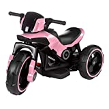 Lil' Rider Ride-On Toy Trike Motorcycle - Battery Operated Electric Tricycle for Toddlers with Built-in Sound, Lights & MP3 Input (Pink)