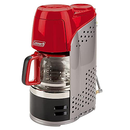 Coleman 10 Cup Portable Prpn Coffmker Rd/Blk/Gry 2000020942