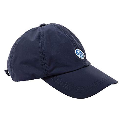 NORTH SAILS Herren Baseball Kappe Navy Blau Recyceltem Polyamid Mit Verstellbarer Hinterer Schnalle - Logo Applikation auf Der Vorderseite Eine Größe