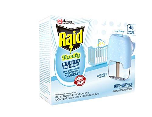 Repelente Líquido Elétrico Raid Kids 45 noites aparelho + refil 32.9ml