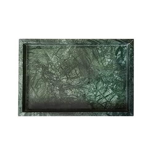 Viento simple Bandeja de mármol natural Postre West Point Jewelry Cube Storage