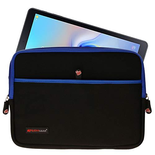 TECHGEAR Pro Sleeve [10] Slim Neoprene Zipped Protective Sleeve Case Cover, Anti-Shock Bubble Interior fits Samsung Tab A 10.1 2019, T580, Tab A 10.5 T590, Tab S6 T860, S5e S4 10.5, Tab S3 S2 9.7 etc