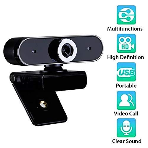 Webcam HD Webcam Cámara Web Webcam Cámara de grabación de video chat Cámara USB con micrófono HD con micrófono para ordenador PC