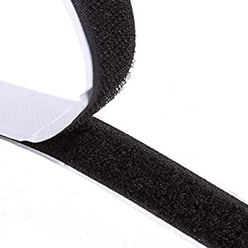Double-Sided Adhesive 8M Extra Strong Self-Adhesive Hook and Loop Tape Roll Sticky Back Strip with Strong Adhesive Tape Strip Fastener 8.8 Yards 20mm Wide Black Used in Sewing School Office Home