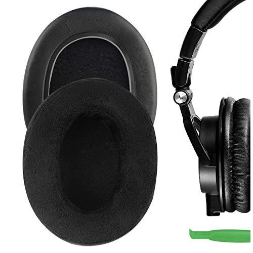Geekria Earpads Replacement for M50 M50X M50S M50cwh M45 M30 M35 M20 Headphones Ear Pad Ear Cushion Ear Cups Ear Cover Repair Parts (Black, Imitation Buckskin Suede)