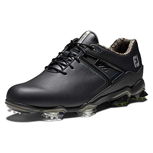FootJoy Men's Tour X Golf Shoes, Black, 7 M US