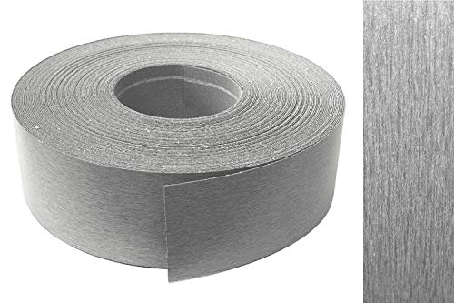 Kantenumleimer Melamin 45mm x 5m mit Schmelzkleber in Edelstahl VA optik Dekor