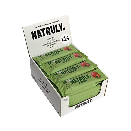 Energy Riegel Natural Athlete, 100{f5fd4b3e7fd0f837d57dc19b971605ce11405abd894657c80bd8e15f604369b4} Natürlich und Bio, Glutenfrei, Vegan, Ohne Zuckerzusatz, Pack 12x40g (Apfel)