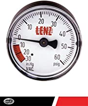 Lenz Indicator Gauge Filter Compound CP-2: 0-60 Max PSI, 2