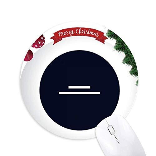 White Music Halb Rest Note Black Round Rubber Maus Pad Weihnachtsbaum Mat