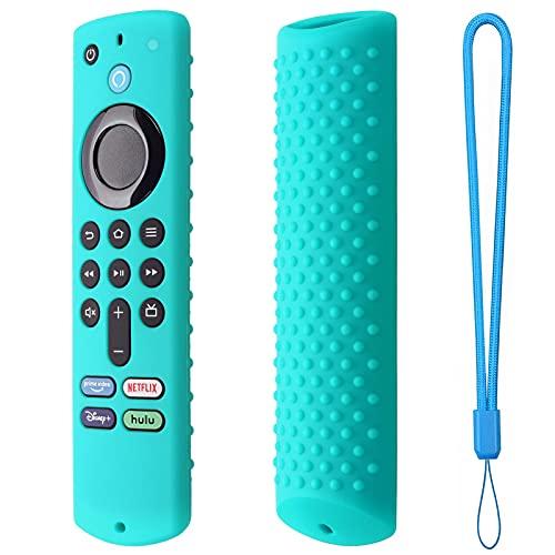 Ulapithi Cubierta remota de la piel de la cubierta del fuego Tv remoto de la televisión de la voz caja protectora lavable para el palillo de la