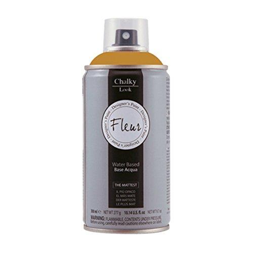 Pintura en spray efecto tiza o yeso extra mate Chalky Look - 300 ml - Es un producto sin olor , al agua y no gotea. (Yellow Ocre)