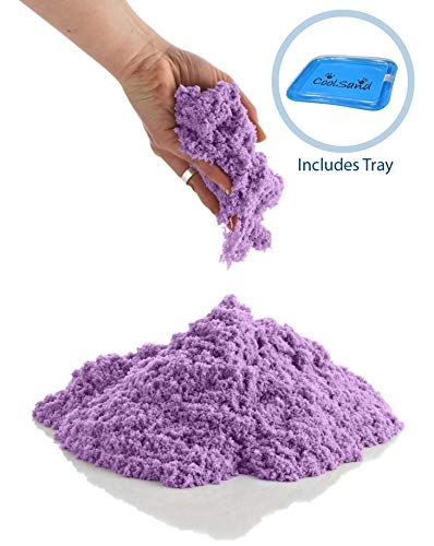 CoolSand Purple 5 Pound Refill Pack - Including: 5 Pounds Moldable Indoor Play Sand, Storage Bucket & Inflatable Sandbox