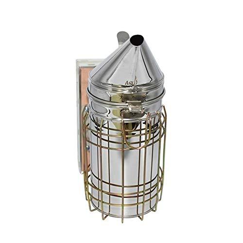 Manual de Abeja Fumador Kit de Abeja Humo Colmena Colmena pulverizador Equipo de Apicultura Herramientas con el Escudo de Calor (Color : Silver)