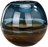 ZXYDD Florero tumba decoración de borde dorado diseño de color neutro, flores artificiales más brillantes, materiales naturales de vidrio para flores (color: C) (color: B) (color: A)