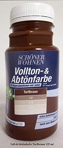 Voll- und Abtönfarbe Torfbraun 125 ml