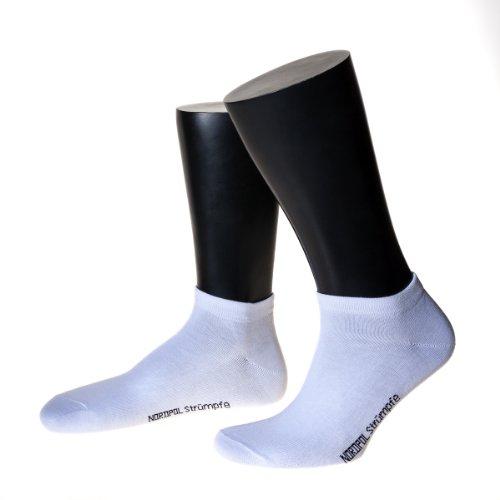 NORDPOL-Strümpfe Herren Sneaker-Socken, Made in Germany, im 5er Pack (39-42, weiß)