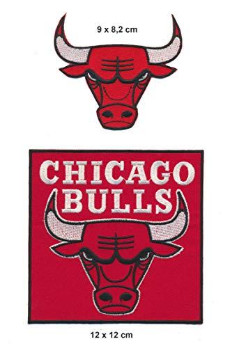 RG20 Chicago Bulls Aufnäher Patches Bügelbild 2 Stück Basketball NBA USA