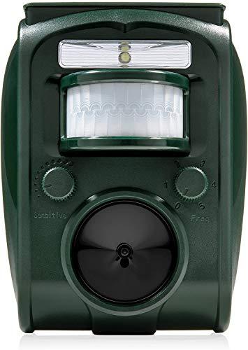 Easy Eagle Repellente Ultrasuoni, Repellente Energia Solare per Gatti, Piccioni, Cani, Attrezzature per Spaventare Gli Animali per Esterno