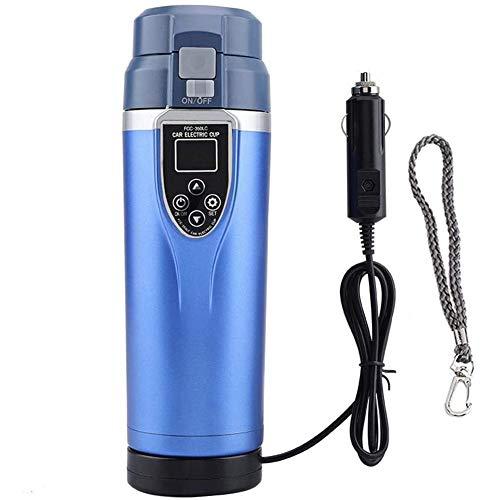 YCX Wasserkocher Multifunktions Edelstahl Reise Teekessel Tragbare Heißer Wasser Tasse, Auto Heizung Cup Für Camping,Blau