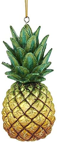 Kurt Adler NB1544 Noble Gems Pineapple Ornament 5 inch High Glass product image