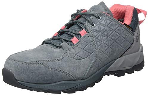 Jack Wolfskin Damen Cascade Hike LT Texapore Low W Outdoorschuhe, Pebble Grey/pink, 40 EU