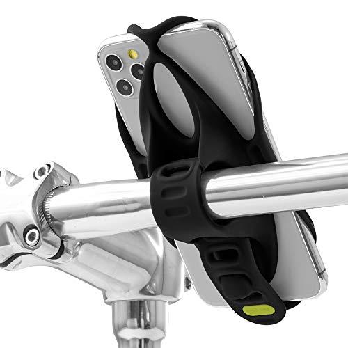 Bone Bike Tie 4 自転車 スマホ ホルダー シリコン製 ハンドルバー用 四世代目最新版 4.7〜7.2インチのスマホに対応 iPhone Xperia Galaxy Pixelなどが装着可能 滑り止め 脱着簡単 脱落防止 縦型 (ブラック)