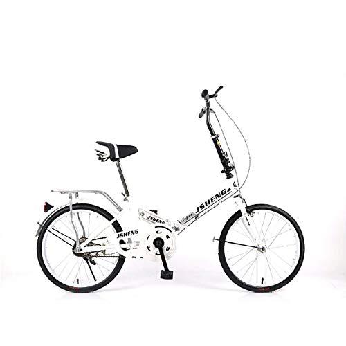 GXLO 20 Zoll Portable Folding Fahrrad Klapprad Female Student Single Speed Variable Speed Stoßdämpfer Fahrrad,Singlespeed