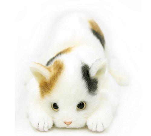 日本製 リアルな猫のぬいぐるみ 58cm (ミケネコL目明き)