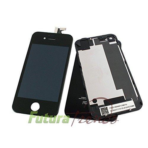 Komplettset (LC-Display + Staubgitter + Backcover) für iPhone 4s SCHWARZ - Qulität & hochwertiges Umbauset für das iphone 4s SCHWARZ