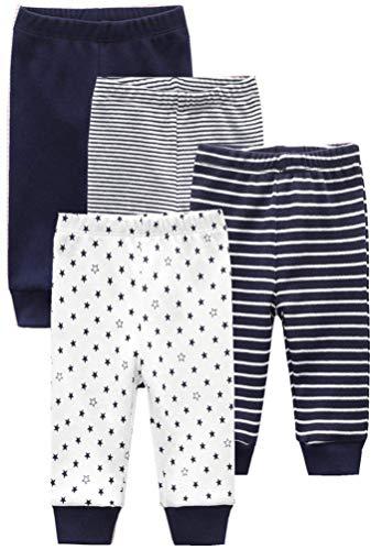 Kiddiezoom Unisex Babyhose für Mädchen Jungen Baby Jogginghose, 4er-Pack