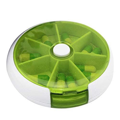 Push-type Automatic Grid Kit Knop Kleur Pillendoos Portable One Week Green